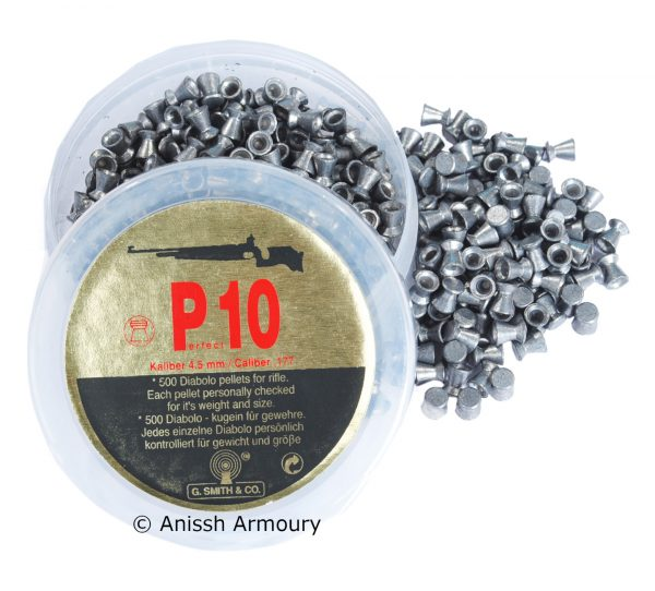 Gsmith P10 0.177 Airgun pellets 500 per tin – watermark